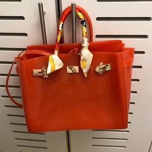"Handbags - Orange Jelly ""Birkin"""